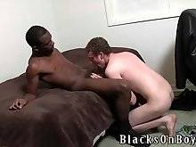 Amateur daddy likes to suck black phallus
