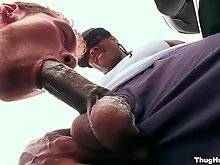 White cocksucker is doing amazing blowjob