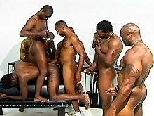 With a portable camera being passed around this hot group of black brothers, you are guarrenteed to get up close to all the hot sucking and fucking th